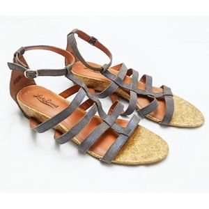 Lucky Brand | Blue Leather Strappy Sandals